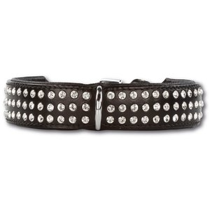 Doxtasy Dog Collar Swarovski Extreme Black 35mm
