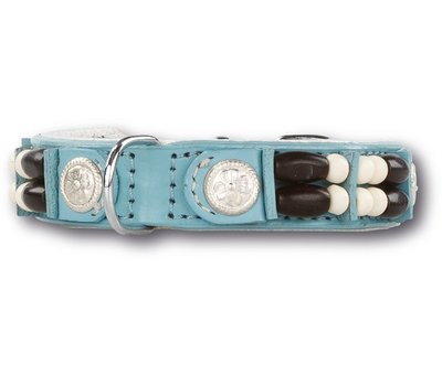 Doxtasy Dog Collar Baby Blue Eagle 15mm
