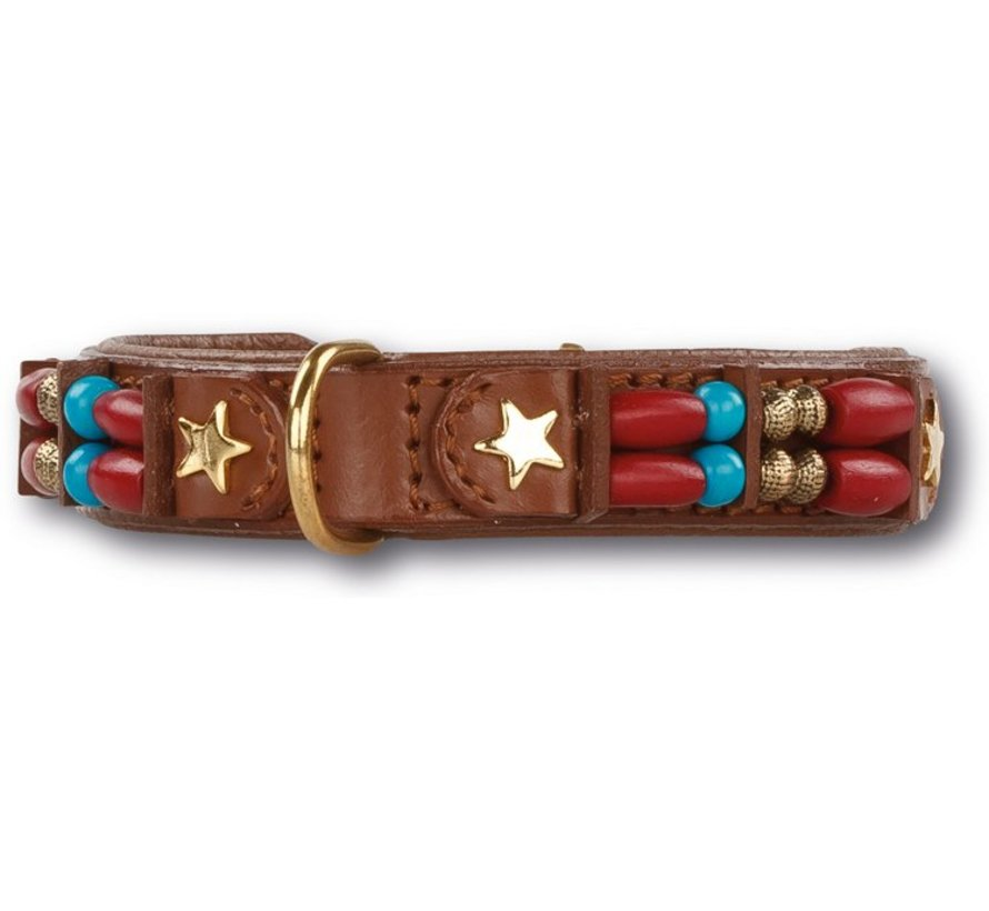 Dog Collar Brown Fox 15mm