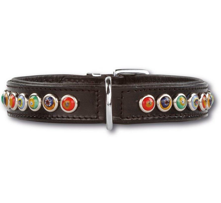 Dog Collar Silly Stones Black 25mm