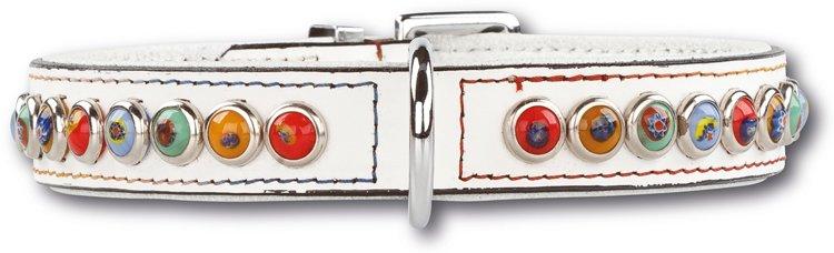 Hondenhalsband Silly Stones White 25mm