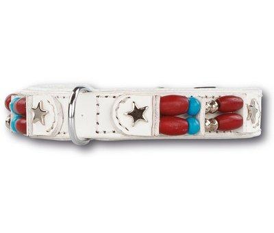 Doxtasy Dog collar White Hawk 15mm