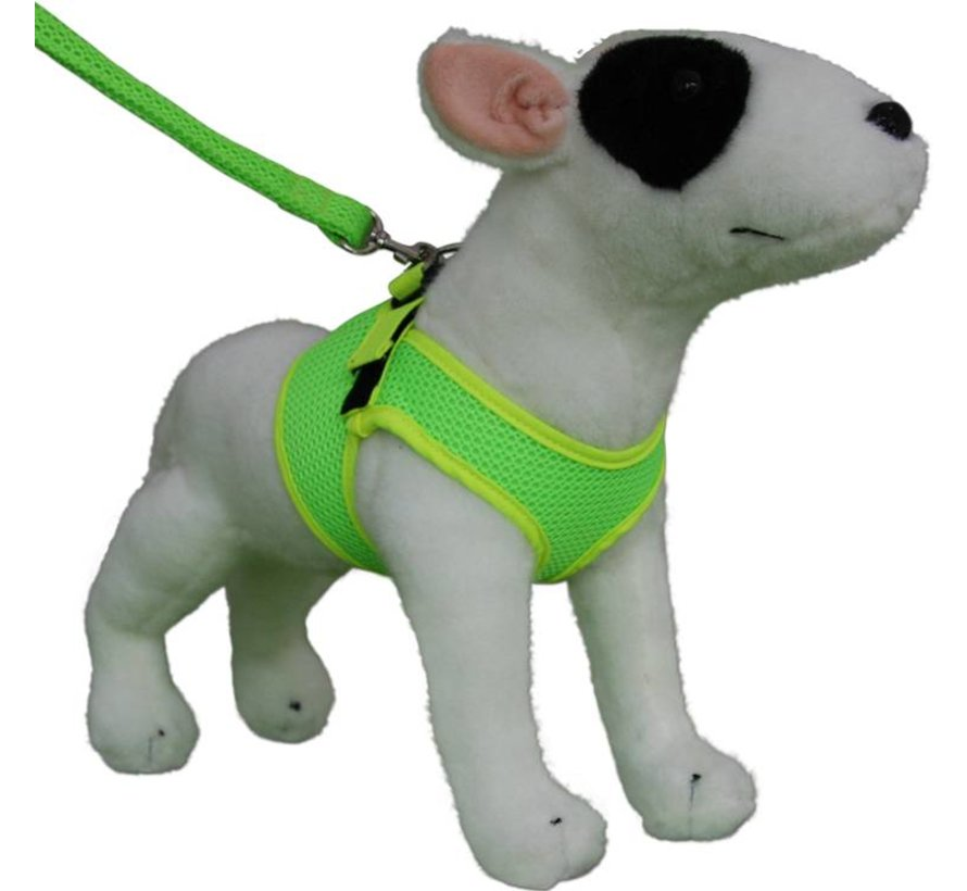 Comfy Dog Harness Mesh Fluo Green