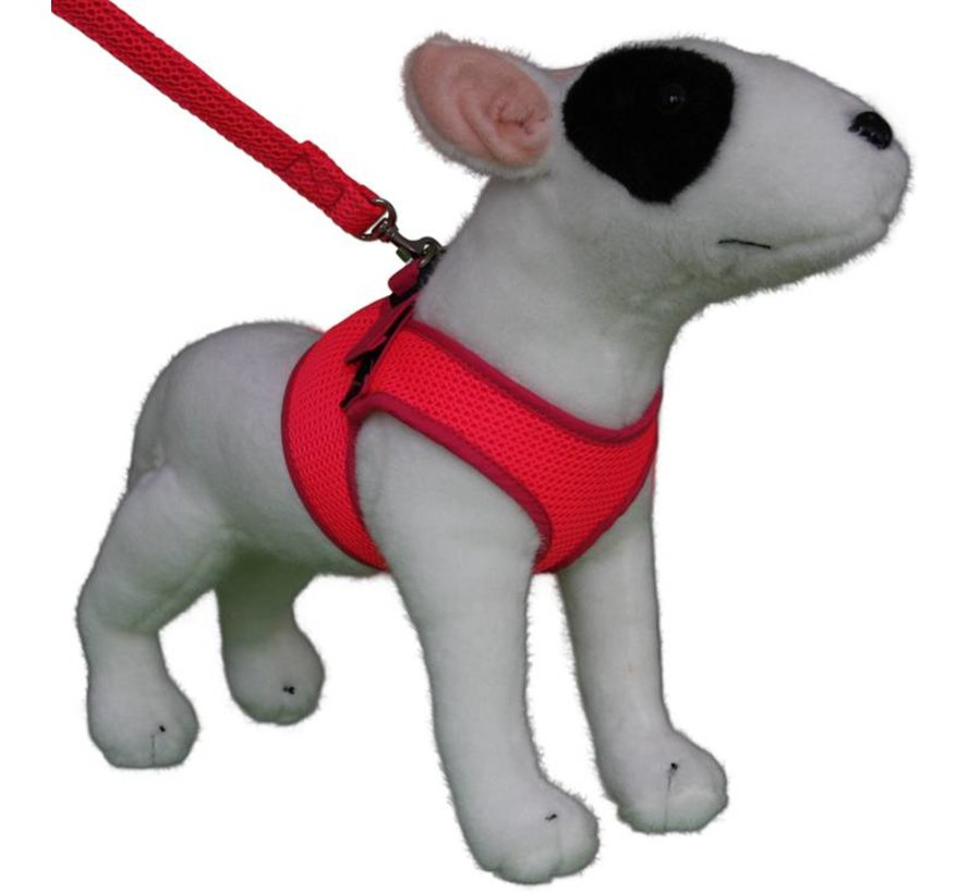 Comfy Dog Harness Mesh Fluo Pink