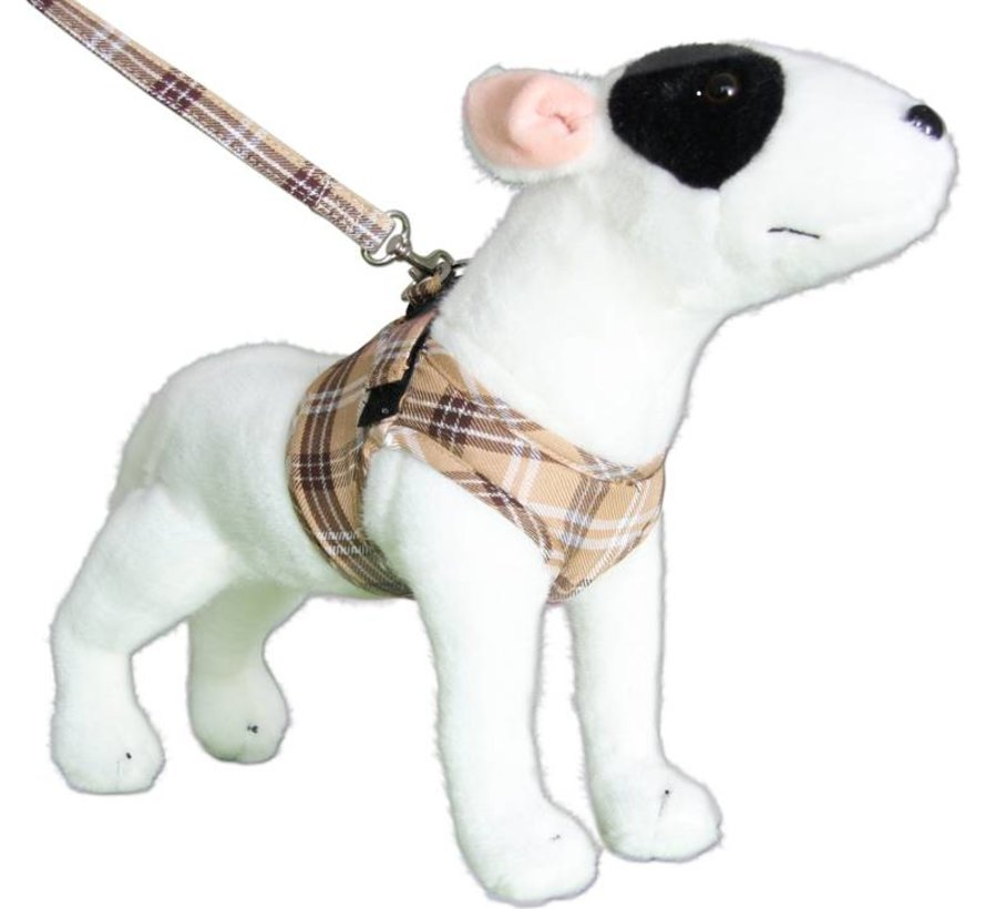 Comfy Dog Harness Scottish Beige