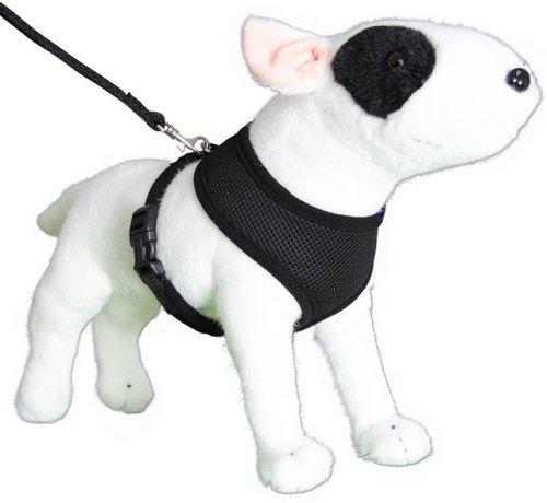 Doxtasy Round Loop Dog Harness Mesh Black
