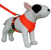 Doxtasy Round Loop Dog Harness Mesh Fluo Orange