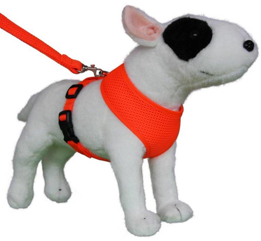 Round Loop Dog Harness Mesh Fluo Orange