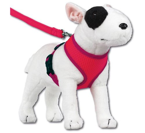 Doxtasy Round Loop Dog Harness Mesh Fluo Pink