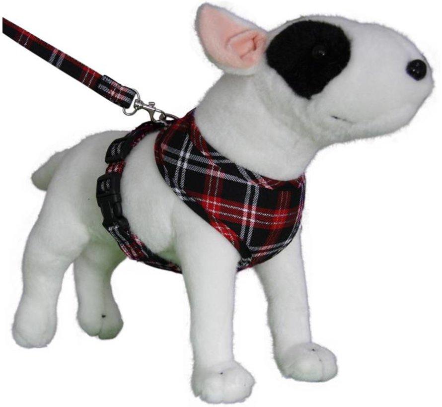 Round Loop Dog Harness Scottish Black