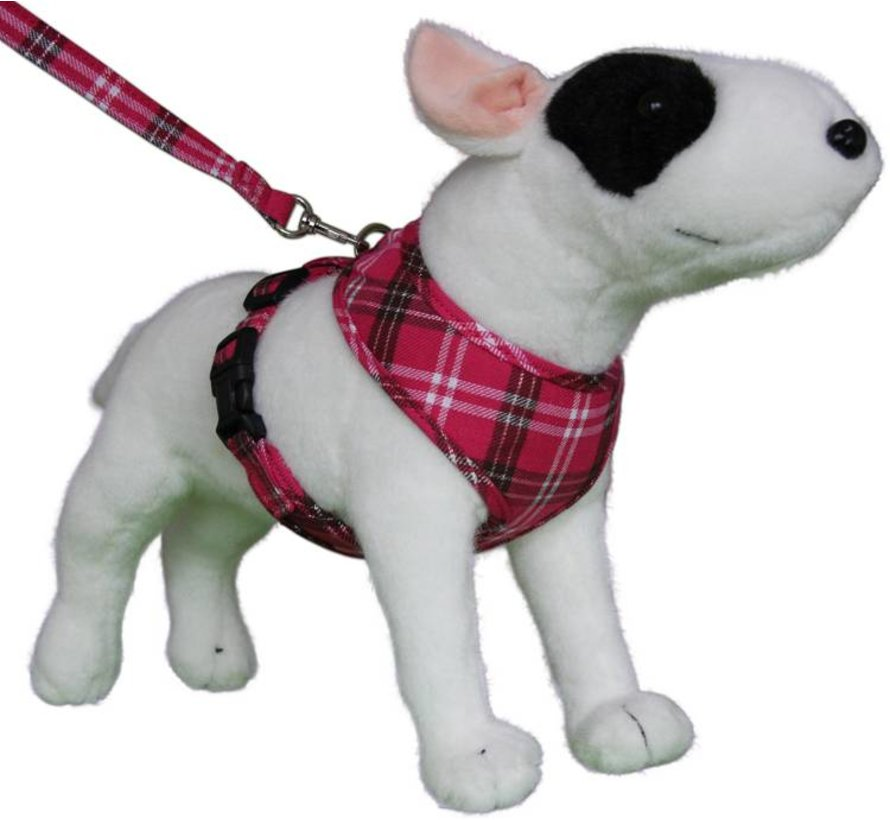 Round Loop Dog Harness Scottish Hot Pink
