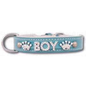 Doxtasy Dog collar with name Medium BabyBlue