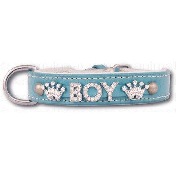 Doxtasy Hondenhalsband met naam Medium Babyblue