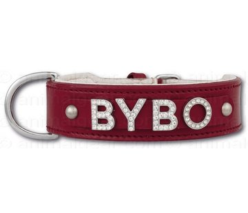 Doxtasy Dog collar with name Medium Red