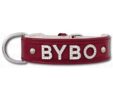 Doxtasy Hondenhalsband met naam Medium Red