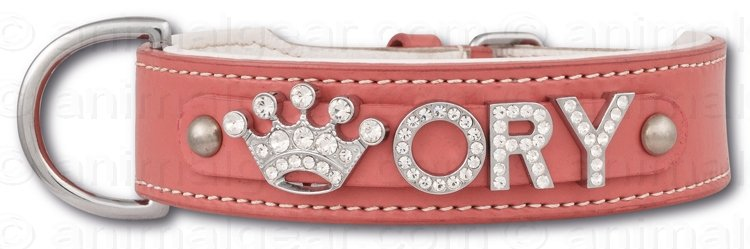 Hondenhalsband met naam Large Pink