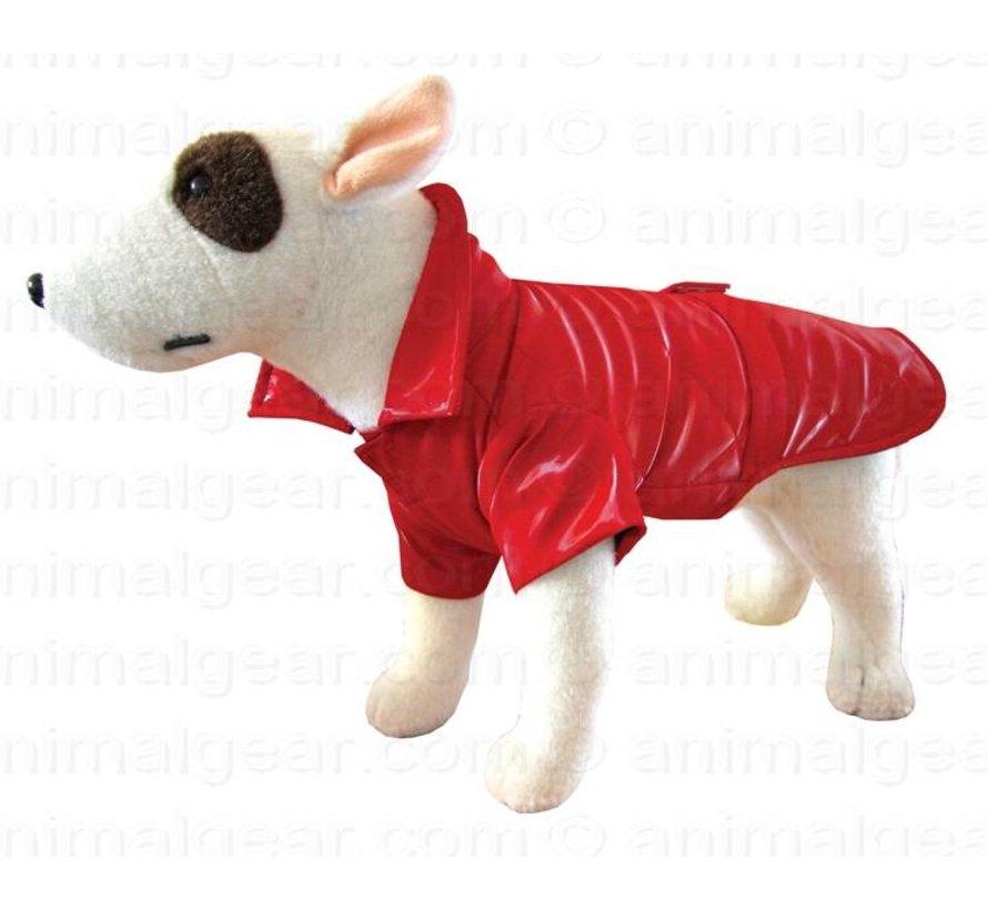 Dog Coat Raincoat New York Red