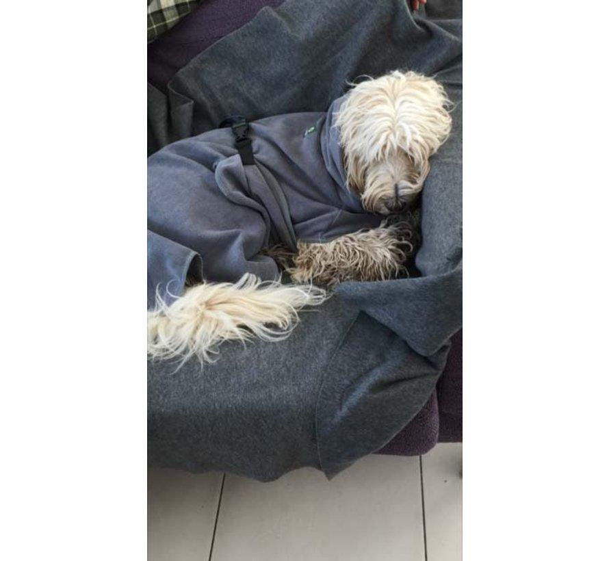 Dog Bathrobe Doggy Dry Dark Grey