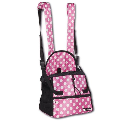 Doxtasy Belly pet carrier Pink Polka Dot