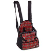 Doxtasy Belly Pet Carrier Tartan Red