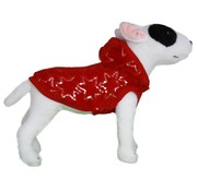 Doxtasy Dog Coat Super Soft Fleece Jacket Winter Glamour Red