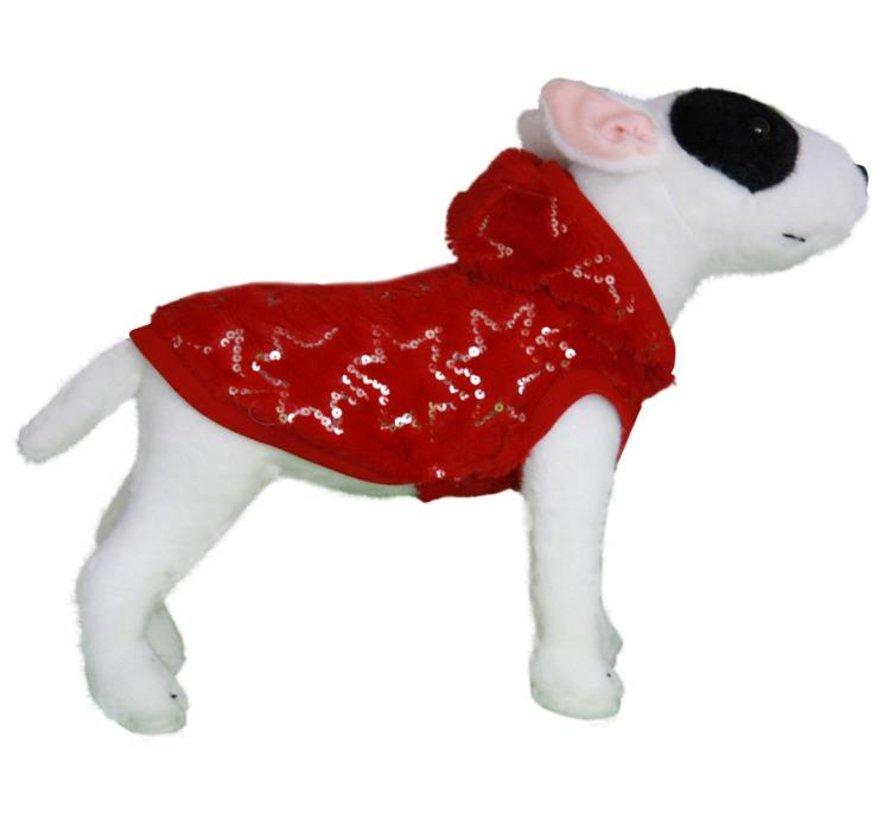 Dog Coat Super Soft Fleece Jacket Winter Glamour Red
