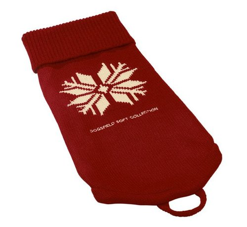 Hunter Dog Sweater Red Snow