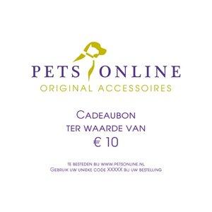 Petsonline Cadeaubon 10 euro