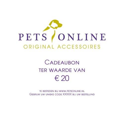 Petsonline Cadeaubon 25 euro