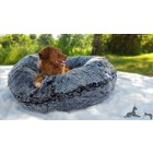 Bessie and Barnie Dog Bagel Bed Midnight Frost