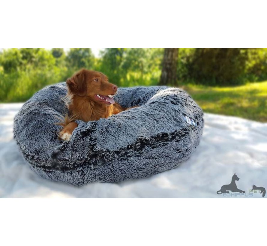 Dog Bagel Bed Midnight Frost