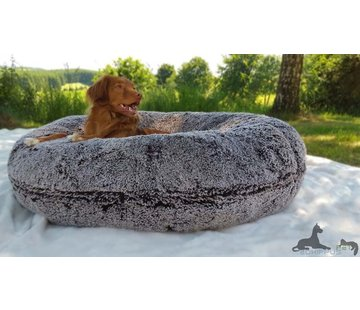 Bessie and Barnie Dog Bagel Bed Frosted Willow