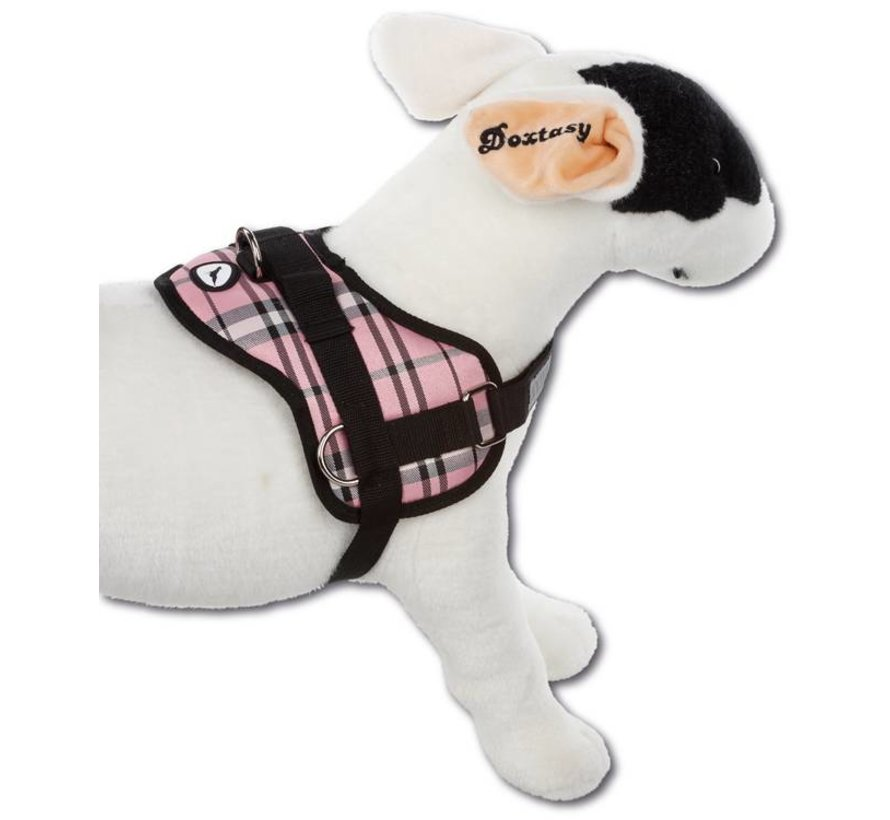 Survival dog harness Scottish Pink