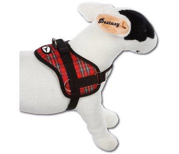 Doxtasy Survival dog harness Tartan Red