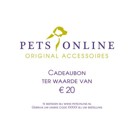 Gift voucher from Petsonline