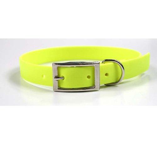 EQuest 4dogs Hondenhalsband Biothane Neon Geel