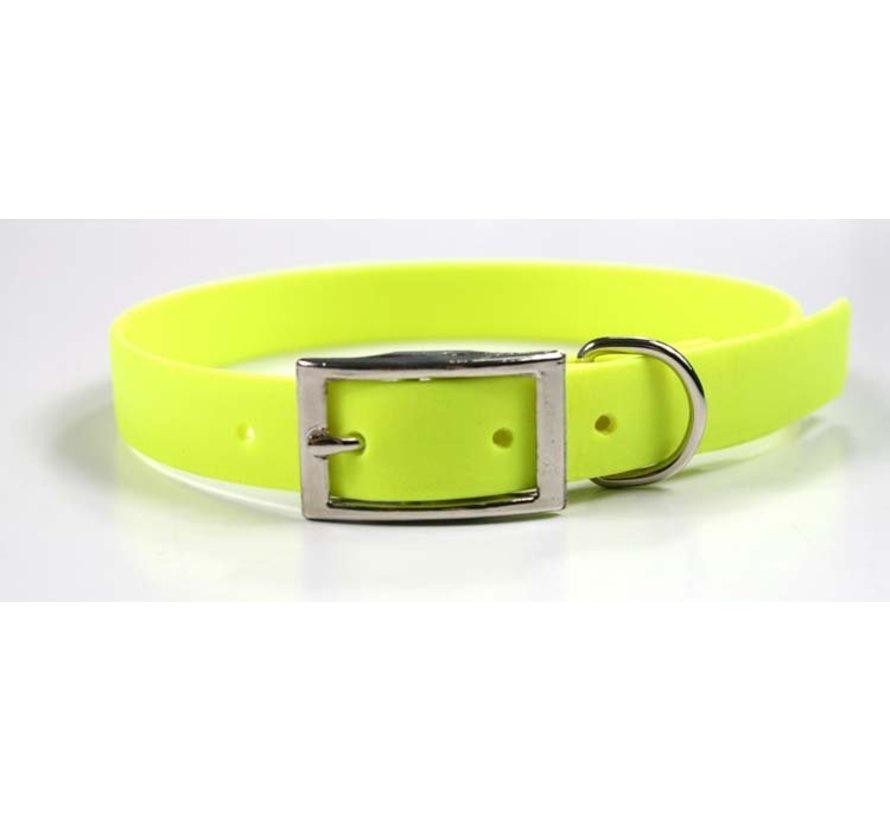 Dog Collar Neon Yellow Biothane