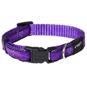 Rogz Dog Collar Purple Chrome