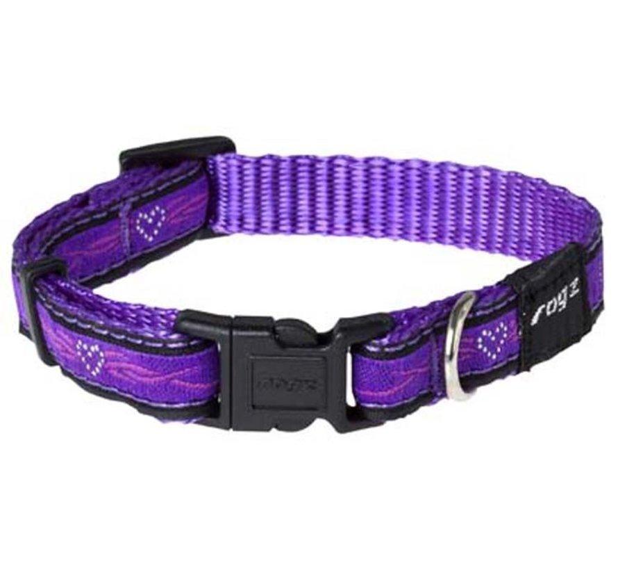 Hondenhalsband Purple Chrome