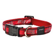 Rogz Dog Collar Red Bone