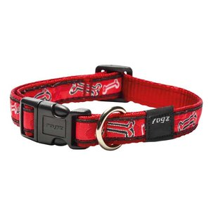 Rogz Hondenhalsband Red Bone