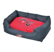 Rogz Dog Bed Red Bones