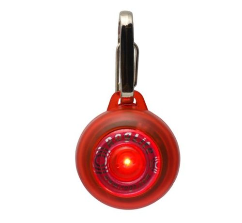 Rogz Roglite Safety Lamp for dogs Red