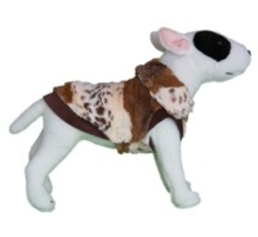 Dog Coat Super Soft ArtFurry Leopard / Beige