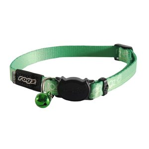Rogz Cat Collar KiddyCat Lime Paws