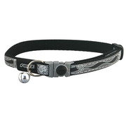 Rogz Cat Collar NightCat Black Paws