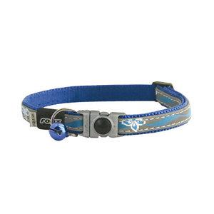 Rogz Cat Collar NightCat Blue Floral