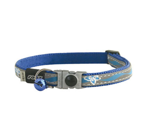 Rogz Cat Collar NightCat Blue Floral