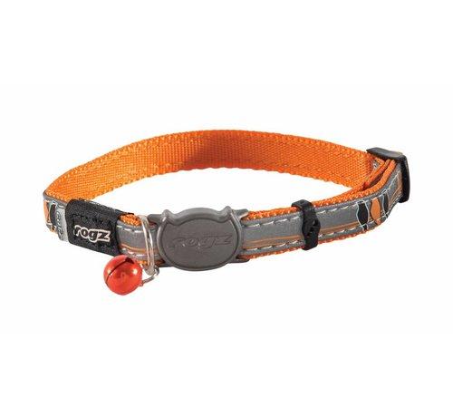 Rogz Cat Collar NightCat Orange Birds