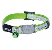 Rogz Cat Collar NightCat Lime Swallows